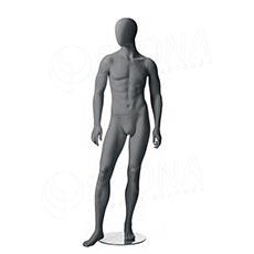 Figurína pánska CITY 03, matná šedá