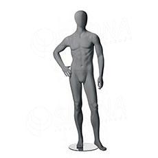 Figurína pánska CITY 04, matná šedá