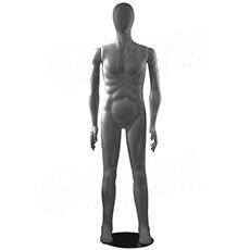 Figurína pánska FLEXIBLE, abstrakt, šedá, flok