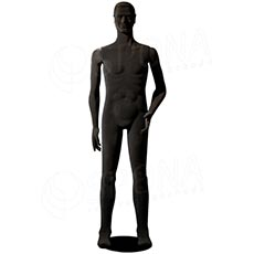 Figurína pánska FLEXIBLE, prelis, čierna, flok