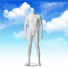 Figurína pánska MARVIN 01, matná biela, bez hlavy
