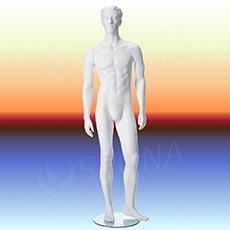 Figurína pánska NIK 01, prelis, biela matná