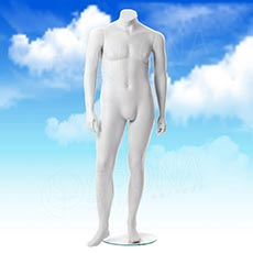 Figurína pánska XXL, matná biela, bez hlavy