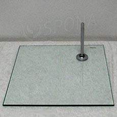 Figurína podstavec sklenený, štvorec, 280 x 280 x 8 mm