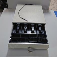 Pokladničná zásuvka EC 350 D, 4B/8M, béžová, kov