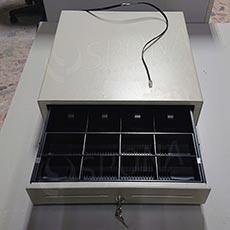 Pokladničná zásuvka EC 465, 4B / 8M, béžová, kov