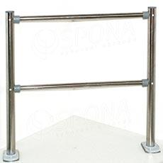 ALKAFIX bariéra 2m (2 x stojna 108, 4 x trubka 1m, 8 x koncovka)