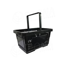 Košík nákupný, s jednou rúčkou čierny plast