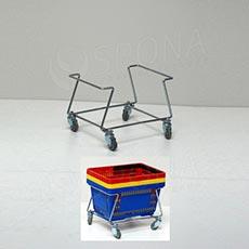 Vozík pre nákupné košíky pojazdný, nízky