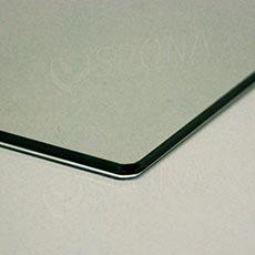 Polica sklenená TEMPER 387x300x4 mm, číra