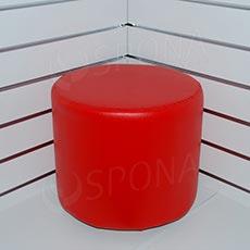 Taburet, v. 370 mm, priemer 380 mm, červený