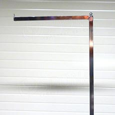 Štender PROFILINE rameno rovné + kul, 40 cm, chróm