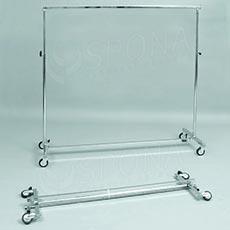 Štender 1000C, skladací staviteľný, výška 117,5 - 189,5 cm, šírka 150 - 220 cm, kovové kolieska