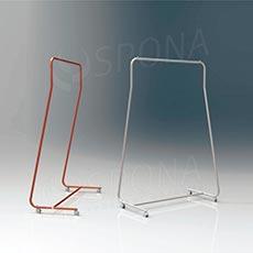 Štender SIMPLY 1510, výška 170 cm, šírka 96 cm, plastová kolieska