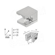 WALL držiak police 25x18 mm, pre hrůbku do 9 mm, chróm
