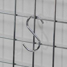 """Háčik """"S"""" veľkosť 16, chróm"""