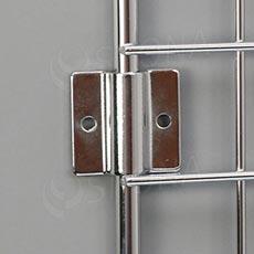 Sieť 5 úchyt na bočnú stenu hr. 2 mm, chróm
