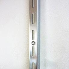 VARIANT stojina na stenu 1 drážka, 23 x 30 mm, 2400 mm, chróm