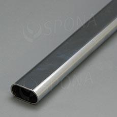 VARIANT trubka oválna 30 x 15 mm, dĺžka 3 m, chróm