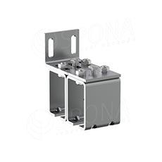 CUADRO 9631D dvojitý úchyt pre závesný systém na stenu, chrom