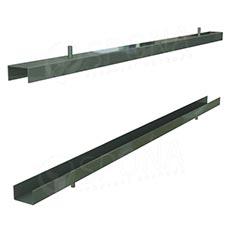 PANORAMA 113A, držiak obojstranného panelu hrúbka 2x 19 mm, 570 mm, chróm, pár