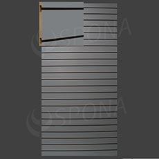 SLAT panel 120 x 240 / 10, bez insertov, svetlo šedý