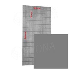 SLAT panel 120 x 240/10 cm, bez insertov, strieborný