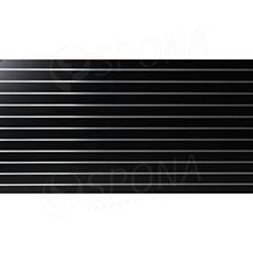SLAT panel 240 x 120 / 10, bez insertov, čierna