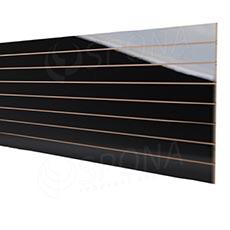 SLAT panel 240 x 120 /10 terminál, bez insertov, vysoký lesk čierny (black)