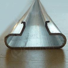 SLAT insert T-ALU 1 mm, 240 cm (zaguľatený)
