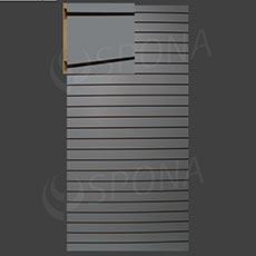 SLAT ART drážkový panel 120 x 240 cm, 10, bez insertov, šedý (grigio)