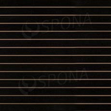 SLAT ART panel 120x240 cm,10, bez insertov, čierny (nero)