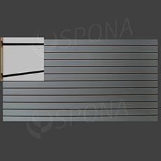 SLAT ART drážkový panel 240 x 120 cm, 10, bez insertov, biely (bianco)