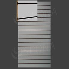 SLAT ART drážkový panel 120 x 240 cm, 15, bez insertov, biely (bianco)