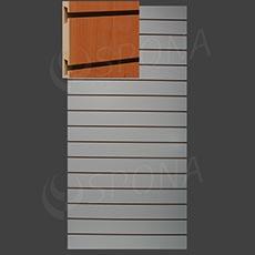 SLAT ART panel 120 x 240 cm, 15 drážok v rozostupe 15 cm, bez insertov, buk (fagio)