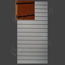 SLAT ART drážkový panel 120 x 240 cm, 15, bez insertov, orech (noce)
