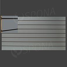 SLAT ART drážkový panel 240 x 120 cm, 15, bez insertov, šedý (grigio)
