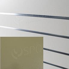 SLAT ARK panel 120 x 240 cm, 11 drážok v rozostupe 20 cm, bez insertov, svetlo krémový