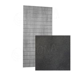SLAT ARK panel 120 x 240 cm, 15 drážok v rozostupe 15 cm, bez insertov, betón 3D