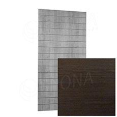 SLAT ARK panel 120 x 240 cm, 15 drážok v rozostupe 15 cm, bez insertov, wenge