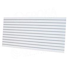 SLAT panel ARK 240 x 120 cm, rozteč 10 cm, bez insertov, biely