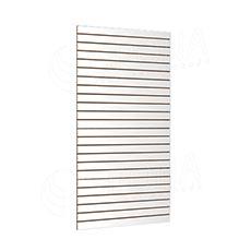 SLAT panel SLIM 120 x 240 cm, 23 drážok v rozostupe 10 cm, bez insertov, biely