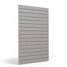 SLAT FIX panel 120 x 240 cm, 23 drážok v rozostupe 10 cm, bez insertov, svetlo šedý