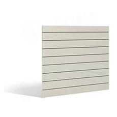 SLAT FIX panel 120 x 120 cm, 11 drážok v rozostupe 10 cm, bez insertov, biely