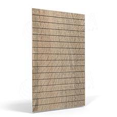 SLAT FIX panel 120 x 120 cm, 11 drážok v rozostupe 10 cm, bez insertov, dub sonoma