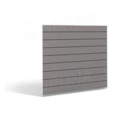 SLAT FIX panel 120 x 120 cm, 11 drážok v rozostupe 10 cm, bez insertov, platina