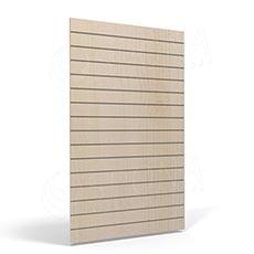 SLAT FIX panel 120 x 120 cm, 11 drážok v rozostupe 10 cm, bez insertov, svetlé drevo