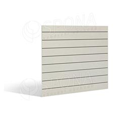 SLAT FIX panel 120 x 120 cm, 11 drážok v rozostupe 10 cm, bez insertov, obojstranný biely dekor