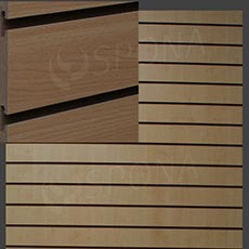 SLAT DREAM panel 120,5 x 122 cm, 11 drážok v rozostupe 10 cm, bez insertov, buk (beech)