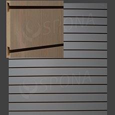 SLAT DREAM panel 120,5 x 122 cm, 11 drážok v rozostupe 10 cm, bez insertov, svetlý dub (oak)